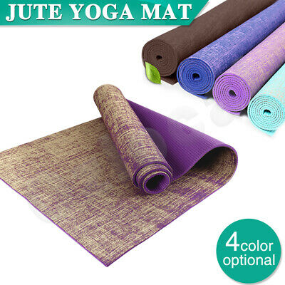 AU35.99 • Buy Premium Natural Linen Jute Yoga Mat Eco Friendly Exercise Fitness Gym Pilates AU