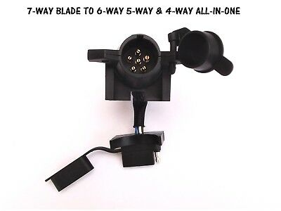 $ CDN30.25 • Buy 7-WAY To 6-WAY Round 5-WAY 4-WAY Towing ADAPTER Trailer Wiring Harness Connector