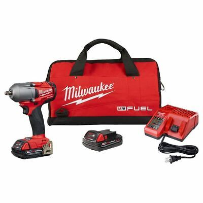 Milwaukee 2852-22CT M18 3/8  Impact Wrench Friction Ring Kit W/ (2) 2Ah Battery • 284.95$