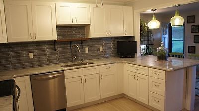 $1529 • Buy Stunning White Shakers Custom Layouts Available RTA Cabinets 14ft