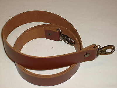 1  Tan / Medium Brown Leather Shoulder Bag Replacement Strap Bronze Fittings • 12.99£