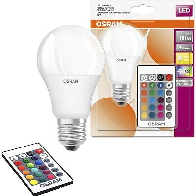 £12.29 • Buy 9w OSRAM LED STAR Colour Changing GLS A60 Lightbulb RGBW Remote Control Dimmable