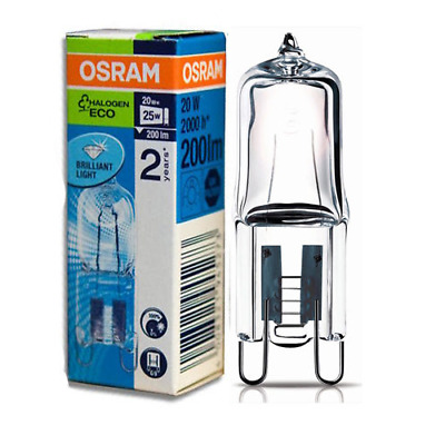 Osram 20w G9 Halopin ECO Energy Saving Halogen Capsule Lamp 240volts (20w = 25w) • 3.37£