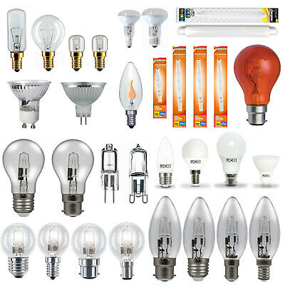 GU10, Candle, Golf Ball, GLS, G4 Halogen, LED, Appliance Household Light Bulbs • 1.79£