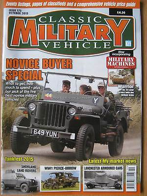 £4.99 • Buy Classic Military Vehicle October 2015 Land Rover Pierce Arrow Lanchester Warrior