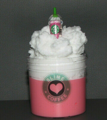 AU30 • Buy Strawberries And Cream Daiso Cloud Slime Frappe With Coffee Charm ⭐️⭐️⭐⭐️⭐️