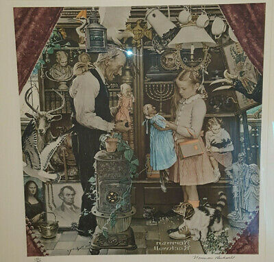 $ CDN4388.65 • Buy Norman Rockwell  April Fool  Little Girl Lithograph Signed 138/200 Collotype