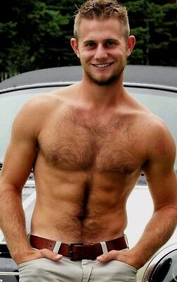 $ CDN3.88 • Buy Shirtless Male Muscular Handsome Dude Hairy Chest Abs Beard Guy PHOTO 4X6 C2025