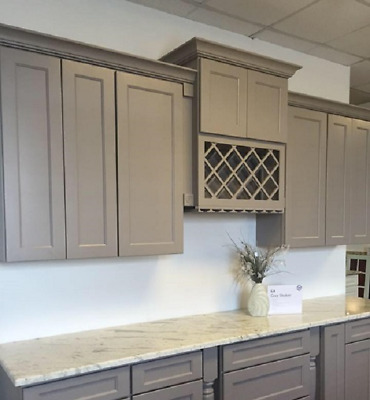 $2198 • Buy Gray Shaker Kitchen Cabinets 14foot Run Or Custom Fit RTA Sr1113gs