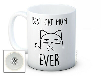 £7.99 • Buy Best Cat Mum Ever - Rude Cat Funny High Quality Coffee Mug - Mother's Day Gift