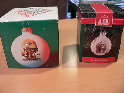 $ CDN13.03 • Buy 2 Vintage Norman Rockwell Christmas Ornaments From 1976 & 1992