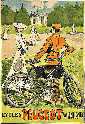 CYCLES PEUGEOT  Cycle Bike Bicycle Deco  Poster Print • 7.99£