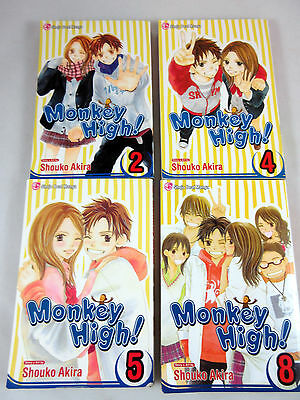 $ CDN21.45 • Buy Monkey High! Manga Lot Of 4 #s 2 4 5 & 8 Shouko Akira