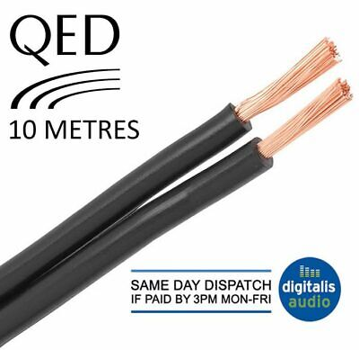 $ CDN34.46 • Buy 10m Of Black QED 79 Strand Oxygen Free Copper (OFC) HiFi Speaker Cable