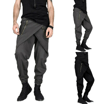 a05c856edfd4 US Fashion Men's Drop Crotch Pants Hip Hop Loose Harem Trousers Baggy Long  Pants • 11.99