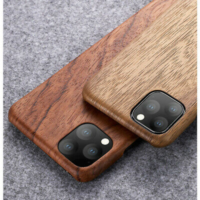 For IPhone 12 XS Max XR Walnut Enony Rosewood Real Wooden Back Slim Case Cover • 12.98£
