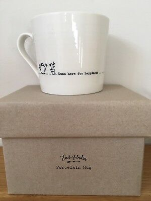 £12.50 • Buy East Of India 'Dunk Here For Happiness' Boxed Porcelain Mug