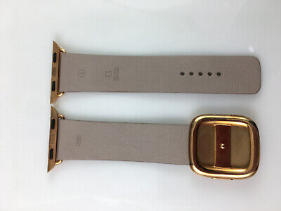 AU119.25 • Buy Genuine OEM Apple Watch Gold Modern Buckle Leather Band 38mm Rose Gray Prototype
