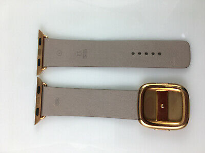 AU111.28 • Buy Original Apple Watch Gold Modern Buckle Leather Band 38mm 40mm Rose Gray Strap