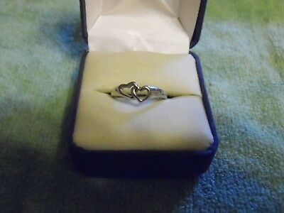 $ CDN13.18 • Buy Lia Sophia Silver Colored Entwined Heart  Romeo  Ring Size 6 NEW