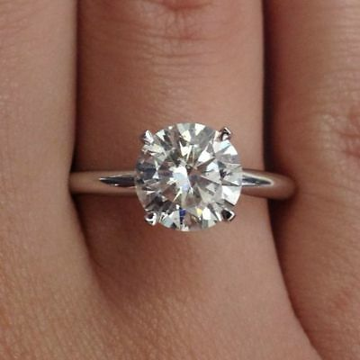 $11.97 • Buy .925 Sterling Silver Ring CZ Ladies Engagement Wedding Bridal Size 4-13 New