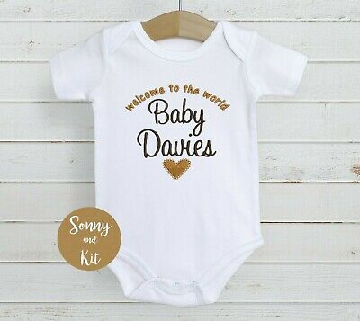 £7.99 • Buy Personalised Baby Vest Bodysuit, Embroidered Clothes, Boy Girl Unisex Gift