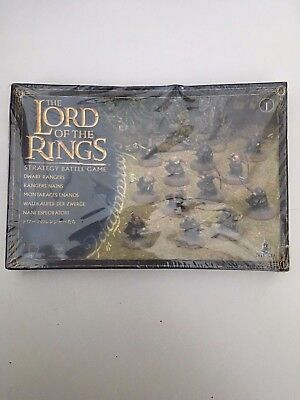 Sealed Warhammer Lord Of The Rings Dwarf Rangers Strategy Battle Games Workshop • 79.99£