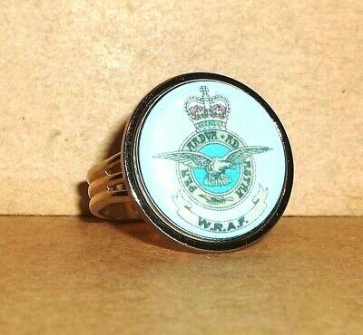 Women's Royal Air Force Adjustable Ring + Free Costume Jewelry Ring. • 13£