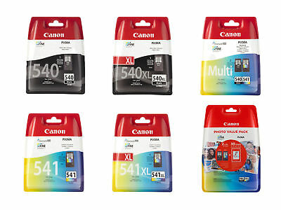 Boxed Canon PG540 CL541 PG540XL CL541XL Ink Cartridges For PIXMA MG3150 Printer • 18.95£