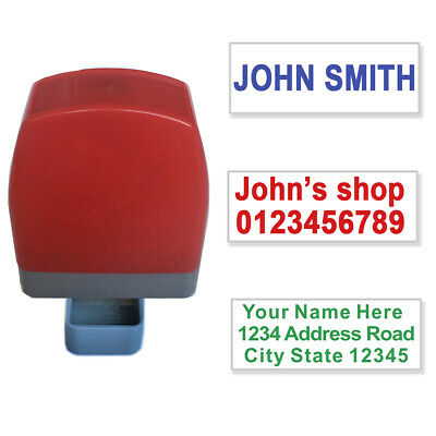 £5.99 • Buy Personalised Name And Address Self Inking Rubber Stamp Signature 31x10mm 1-3line