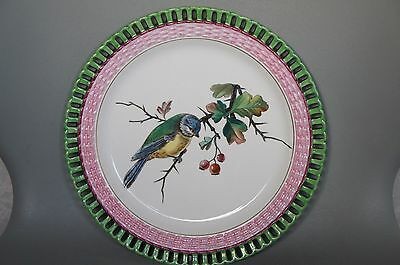 Minton Cabinet Plate Hand Painted  Bird Scene On A Branch • 94.95£