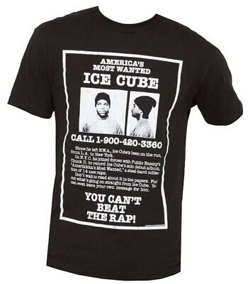 Ice Cube America's Most Wanted Black Men's Graphic T-Shirt New • 11.34£