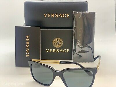18a7e7e0d941a Versace Men s VE4307 VE 4307 GB1 87 Black Gold Sunglasses 58mm 4307 GB1