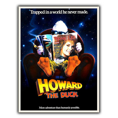 £4.45 • Buy HOWARD THE DUCK METAL SIGN WALL PLAQUE Film Movie Poster Print Man Cave Cinema