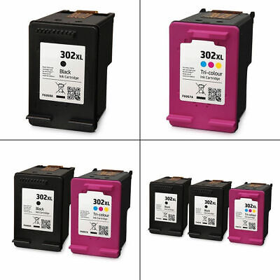 Refilled 302XL Black / Colour Ink Cartridges For HP DeskJet 1110 Printer • 22.95£