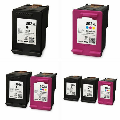 Refilled 302XL Black / Colour Ink Cartridges For HP DeskJet 2132 Printer • 22.95£