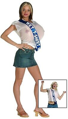 Mens Ladies Wet T-shirt Winner Boobs Comedy Stag Do Fancy Dress Costume Outfit • 34.99£