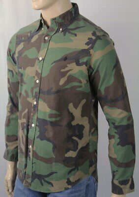 $107.13 • Buy Ralph Lauren Multi Colored Camouflage Camo Classic Oxford Dress Shirt NWT $125