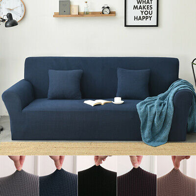 AU23.99 • Buy High Stretch Sofa Cover Couch Lounge Protector Slipcovers 1/2/3/4 Seater Covers