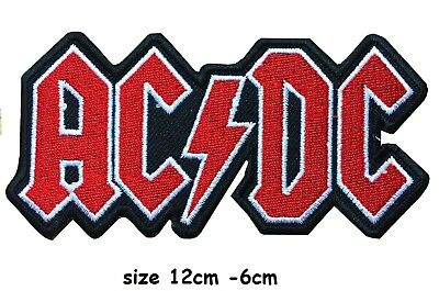 £2.29 • Buy Large AC DC Music Band Embroidered Iron On Sew On Patch Badge