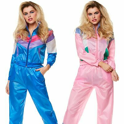Ladies Shell Suit Costume 80s 90s Tracksuit Scouser Fancy Dress Outfit • 14.99£