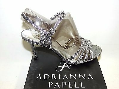 Adrianna Papell 'vonia' Pewter Jewelled Evening Shoes. Textile/leather. Bnib • 9.99£