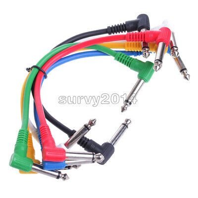$ CDN6.32 • Buy 6Pcs/Set Colorful Angled Plug Audio Leads Patch Cables For Guitar Pedal Effect