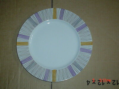 Barratts Delphatic White Tableware Stripes Salad Plate Vintage 1950's • 9.99£