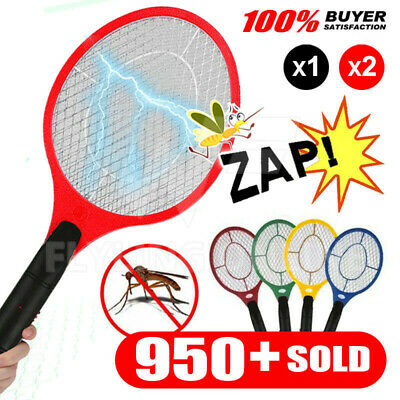 AU17.65 • Buy 1/2x Electric Bug Zapper Racket Fly Swatter Mosquito Killer Insects Bat Battery
