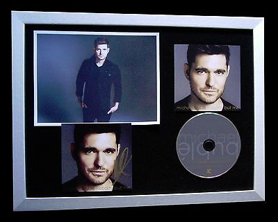 £169.95 • Buy Michael Buble+signed+framed+nobody But Me+met You=100% Genuine+fast Global Ship