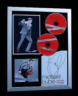 £169.95 • Buy Michael Buble+signed+framed+crazy+christmas=100% Authentic+express Global Ship!!