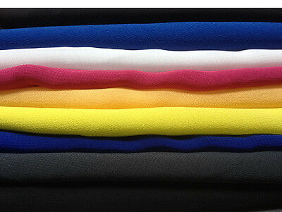 £2.95 • Buy Polyester Crepe Chiffon Fabric --cheapest On Ebay -- New Colours Added !!