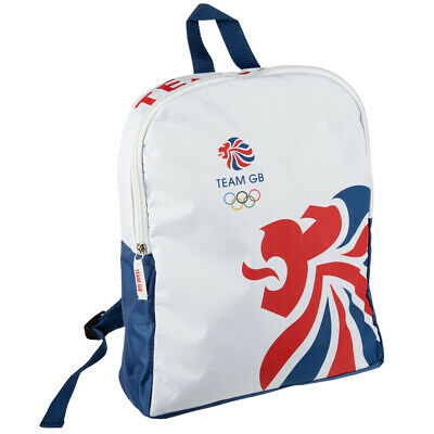 Team GB Olympic Themed Backpack - Travel Storage Bag - White, Blue & Red • 6.99£