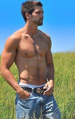 $ CDN3.88 • Buy Shirtless Male Muscular Hunk Hairy Chest Beard Handsome Dude PHOTO 4X6 C1398